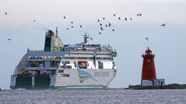 L'Irish Ferries 'Ulysses' ferry quittant le port de Dublin.  Photographie de dossier: Nick Bradshaw