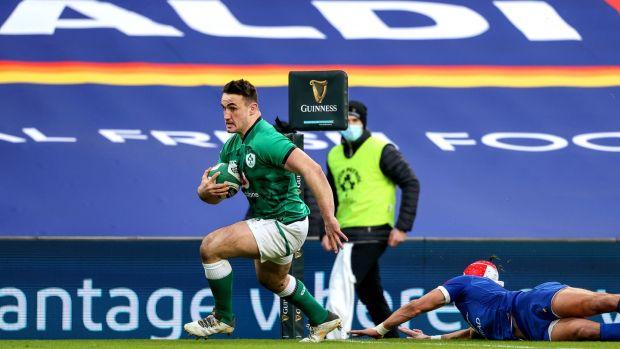 Rónan Kelleher a ramené l'Irlande dans le match avec un essai après être sorti du banc.  Photo: Dan Sheridan / Inpho