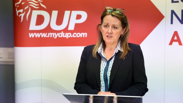 Nouvelle chef adjointe du DUP, Paula Bradley.  Photographie: Kelvin Boyes / Press Eye / PA Wire